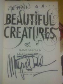 """""""Beautiful Creatures"""" signed by Margaret Stohl"""