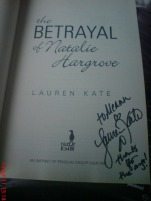 "Signed ""The Betrayal of Natalie Hargrove"""