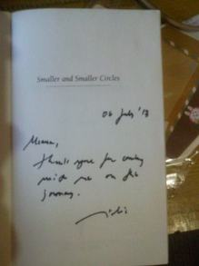 """""""Smaller and Smaller Circles"""" signed by F.H. Batacan"""
