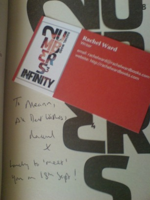 """Signed copy of """"Numbers"""" by Rachel Ward"""