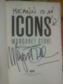 """""""Icons"""" signed by Margaret Stohl"""
