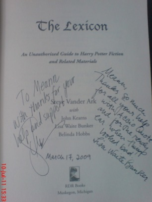 "Signed ""The Lexicon"""