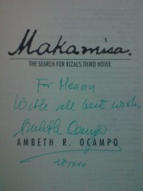 """Makamisa"" signed by Ambeth Ocampo"