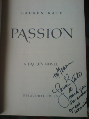 "Signed ""Passion"""