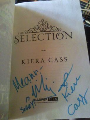 """""""The Selection"""" signed by Kiera Cass"""