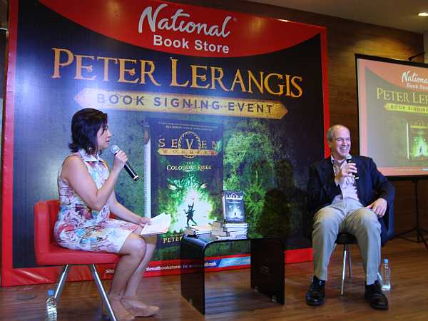 Peter Lerangis with Ms. Xandra Ramos Padilla of National Book Store