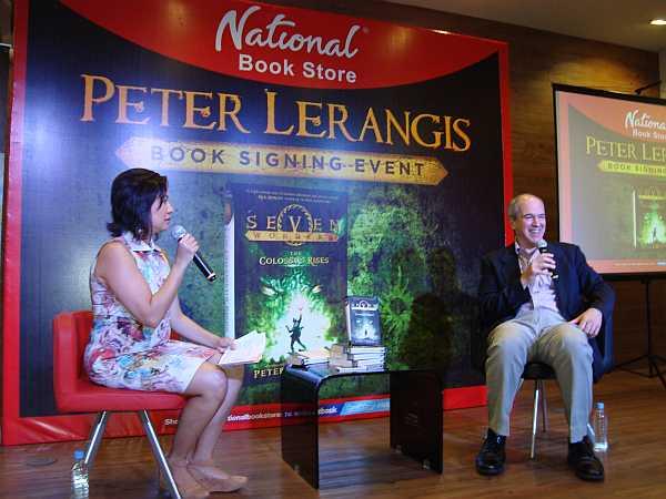 Peter Lerangis with Ms. Xandra Ramos Padilla of National Book Store